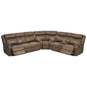 Reclining Sectional with Drop Down Table