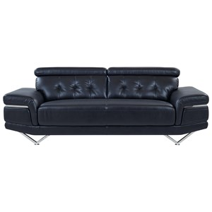 Contemporary Sofa with Adjustable Headrest