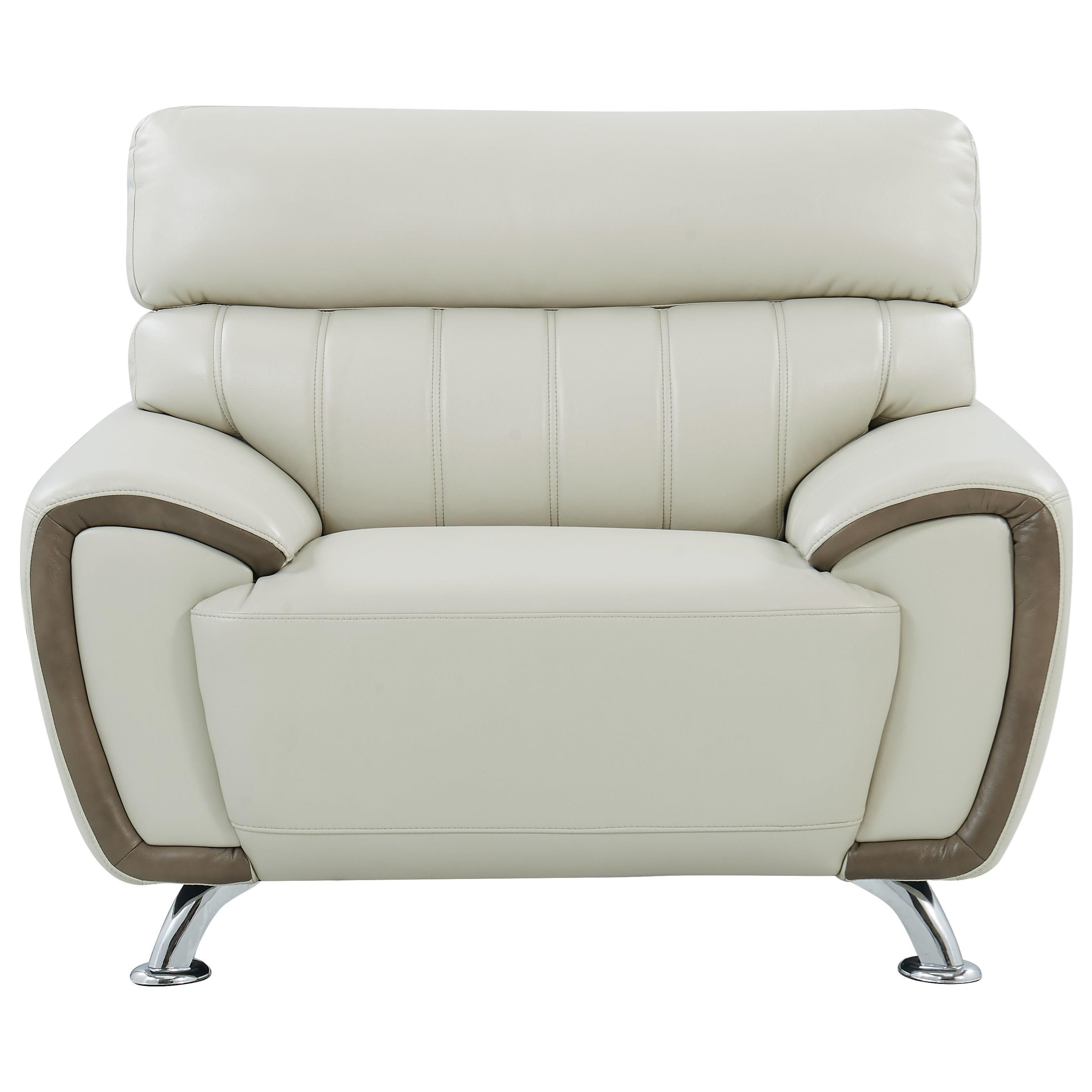 U8750 Stitch Detailed Chair by Global Furniture at Nassau Furniture and Mattress