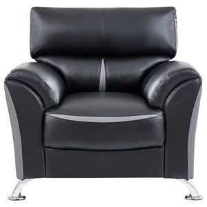 Contemporary Upholstered Chair with Padded Arms