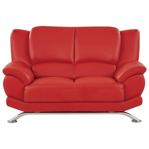 Loveseat with Chrome Legs