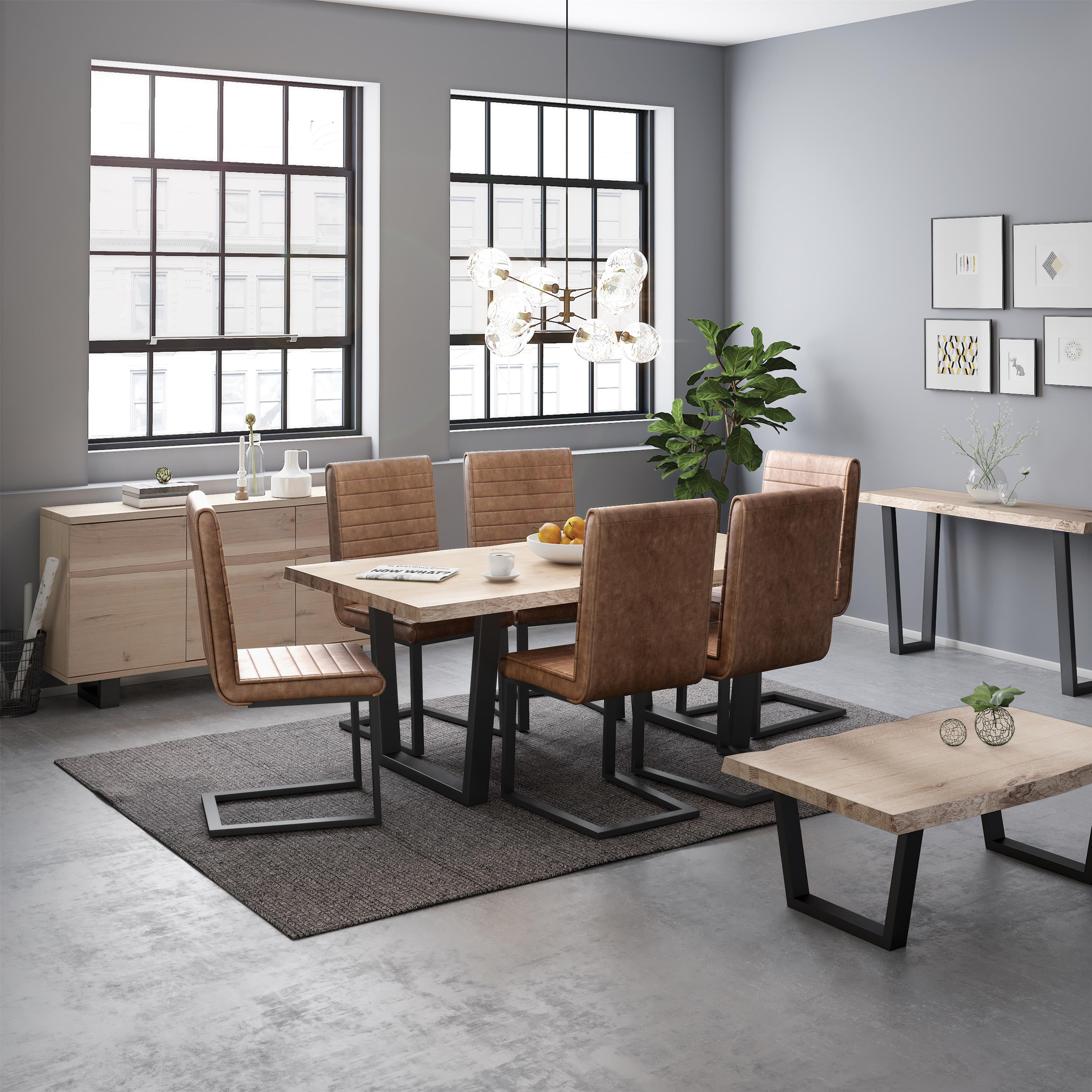 Oak Mill 5 Piece Dining Package by Global Home at Red Knot