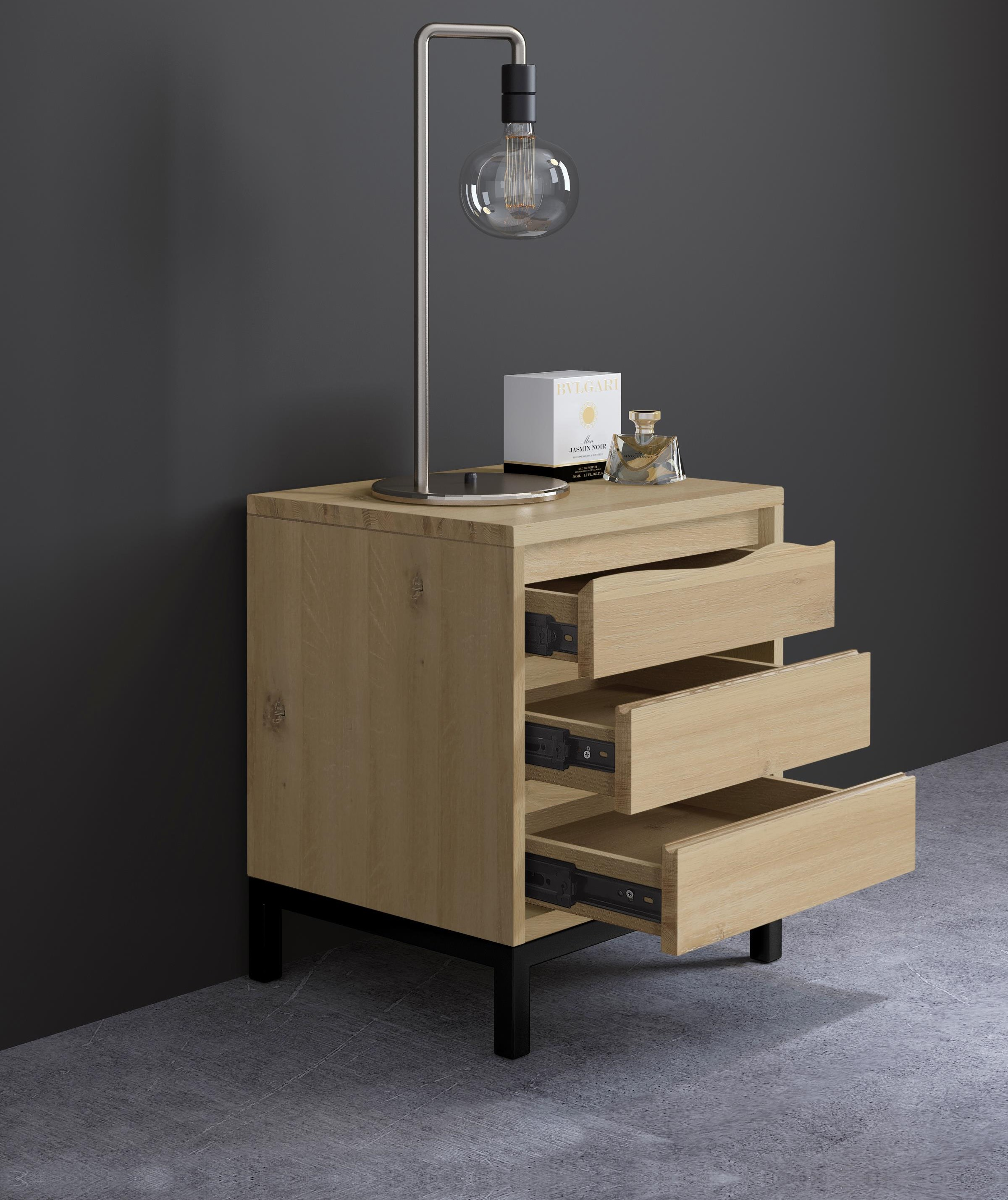 Oak Mill White Oil Bedside by Global Home at HomeWorld Furniture