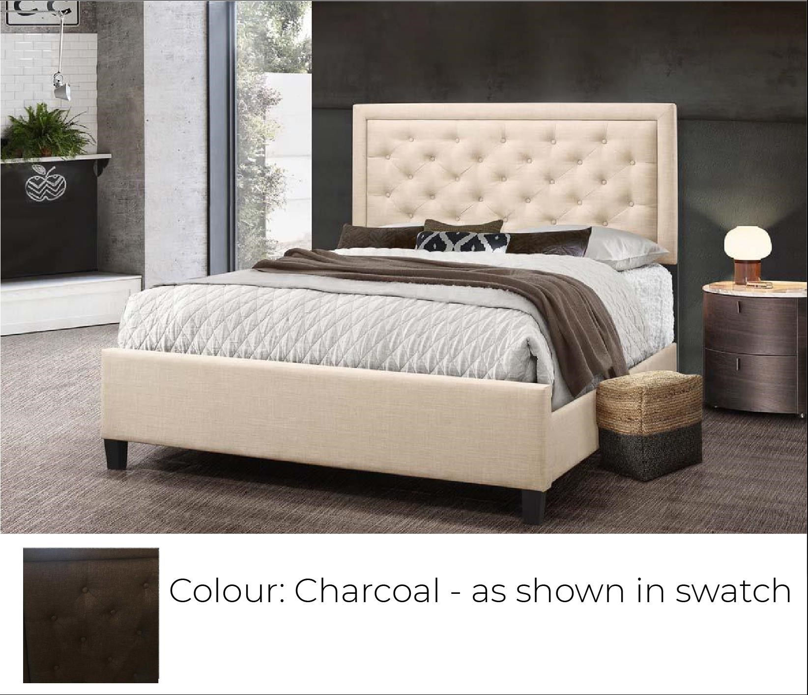 B622 Upholstered Bed - Charcoal at Bennett's Furniture and Mattresses