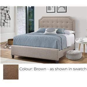 Twin Upholstered Bed - Brown