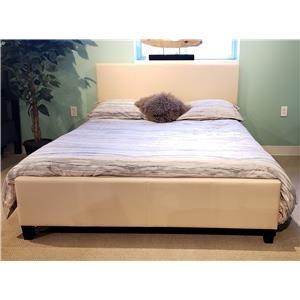 Queen Upholstered Bed - Beige