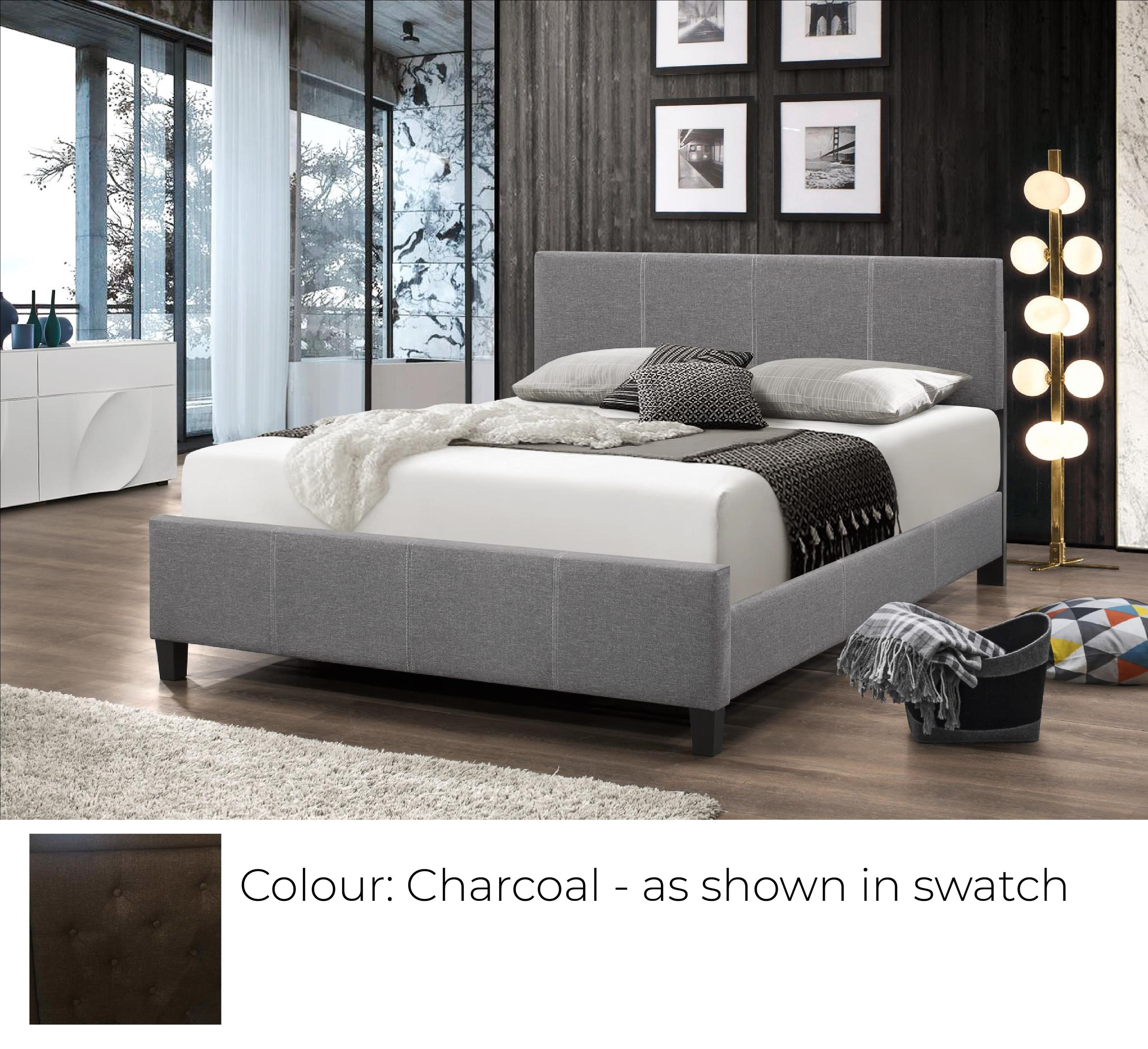 B690 - Ready to Assemble Upholstered Bed - Charcoal at Bennett's Furniture and Mattresses