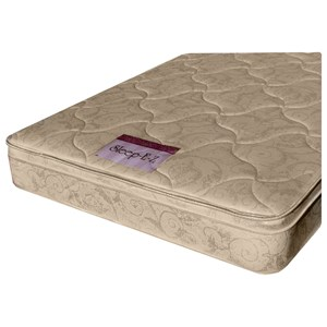 "King Pillow Top Mattress and 9"" Wood Foundation"