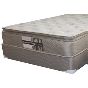 "Full Pillow Top Mattress and 9"" Wood Foundation"