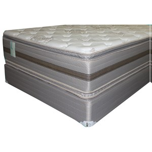 "King Two Sided Pillow Top Mattress and 9"" Wood Foundation"