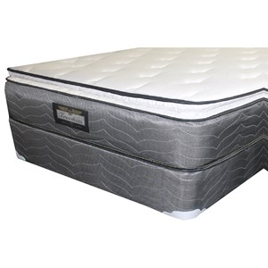 "Twin 12"" Pillow Top Mattress and 9"" Wood Foundation"