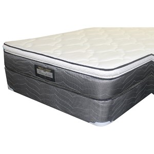 "King 10"" Pillow Top Mattress and 9"" Wood Foundation"