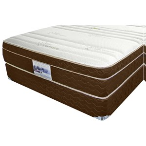 "King 8 1/2"" Innerspring Euro Pillow Top Mattress and 9"" Wood Foundation"