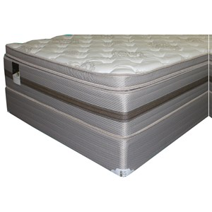 """Queen Hybrid Box Top Mattress and 9"""" Wood Foundation"""