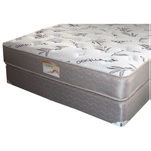 "Full Two Sided Plush Mattress and 9"" Wood Foundation"
