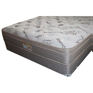 "King Euro Top Mattress and 9"" Wood Foundation"