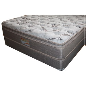 "Queen Pillow Top Mattress and 9"" Wood Foundation"
