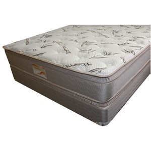 """Queen Two Sided Pillow Top Mattress and 9"""" Wood Foundation"""