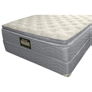 "Queen Supreme Pillow Top Mattress and 9"" Wood Foundation"
