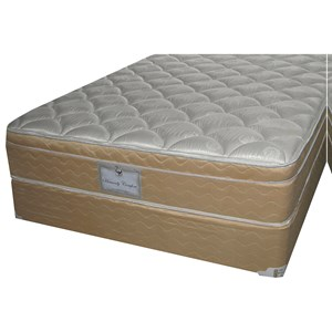 "King All Foam Euro Top Mattress and 9"" Wood Foundation"