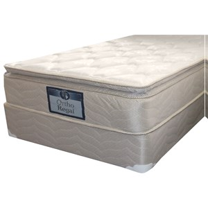 "Twin Plush Pillow Top Mattress and 9"" Wood Foundation"