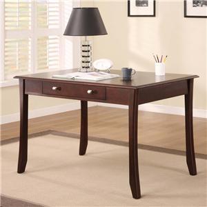 "Golden Oak by Whalen Cappuccino Modular Promo Office 48"" Desk"