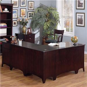 Golden Oak by Whalen Cappuccino Computer Return Desk