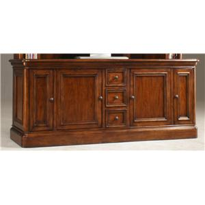 Golden Oak By Whalen Villa Tuscano Double Pedestal Return