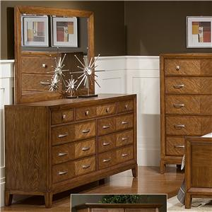 Great River Trading Co Plaza  Dresser & Mirror Combo
