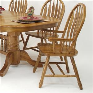 GS Furniture Classic Oak Monarch Arm Chair