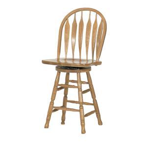"""GS Furniture Classic Oak 24"""" Casual Monarch Swivel Stool"""