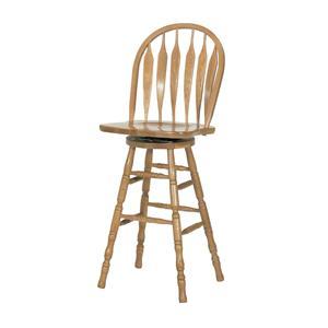 """GS Furniture Classic Oak 30"""" Casual Monarch Swivel Stool"""