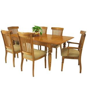 7-Piece Solid Oak Extension Dining Table & Grand Chair Set