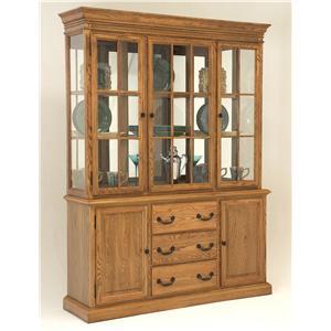 GS Furniture Classic Oak China Cabinet