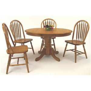 Casual 5 Piece Oval Dining Table with Laminate Top and Chair Set