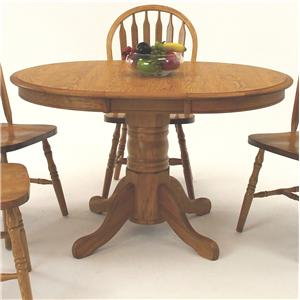 "Oval Pedestal Dining Table with 12"" Leaf"