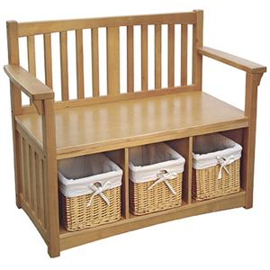Guidecraft Mission Storage Bench with Baskets