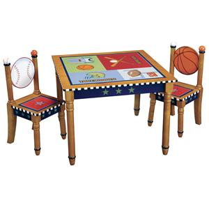 Guidecraft Playoffs 3 Piece Table and Chair Set