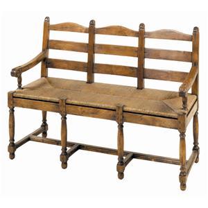 Guy Chaddock Melrose Custom Handmade Furniture Country English Ladderback Bench