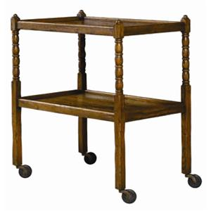 Guy Chaddock Melrose Custom Handmade Furniture Country English Tea Cart with Shelves