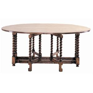 Guy Chaddock Melrose Custom Handmade Furniture Country English Gate Leg Table