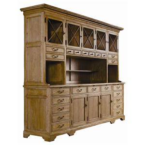 Guy Chaddock Melrose Custom Handmade Furniture Country English Credenza with Hutch