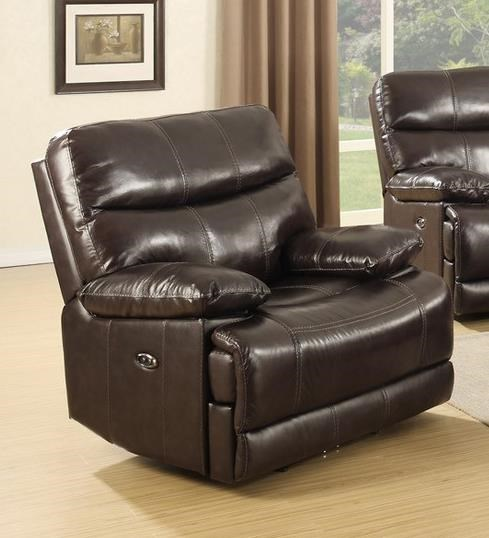 Leather Match Recliner