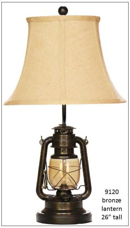 Lamps Bronze Lantern by H & H Lamp Company at Westrich Furniture & Appliances