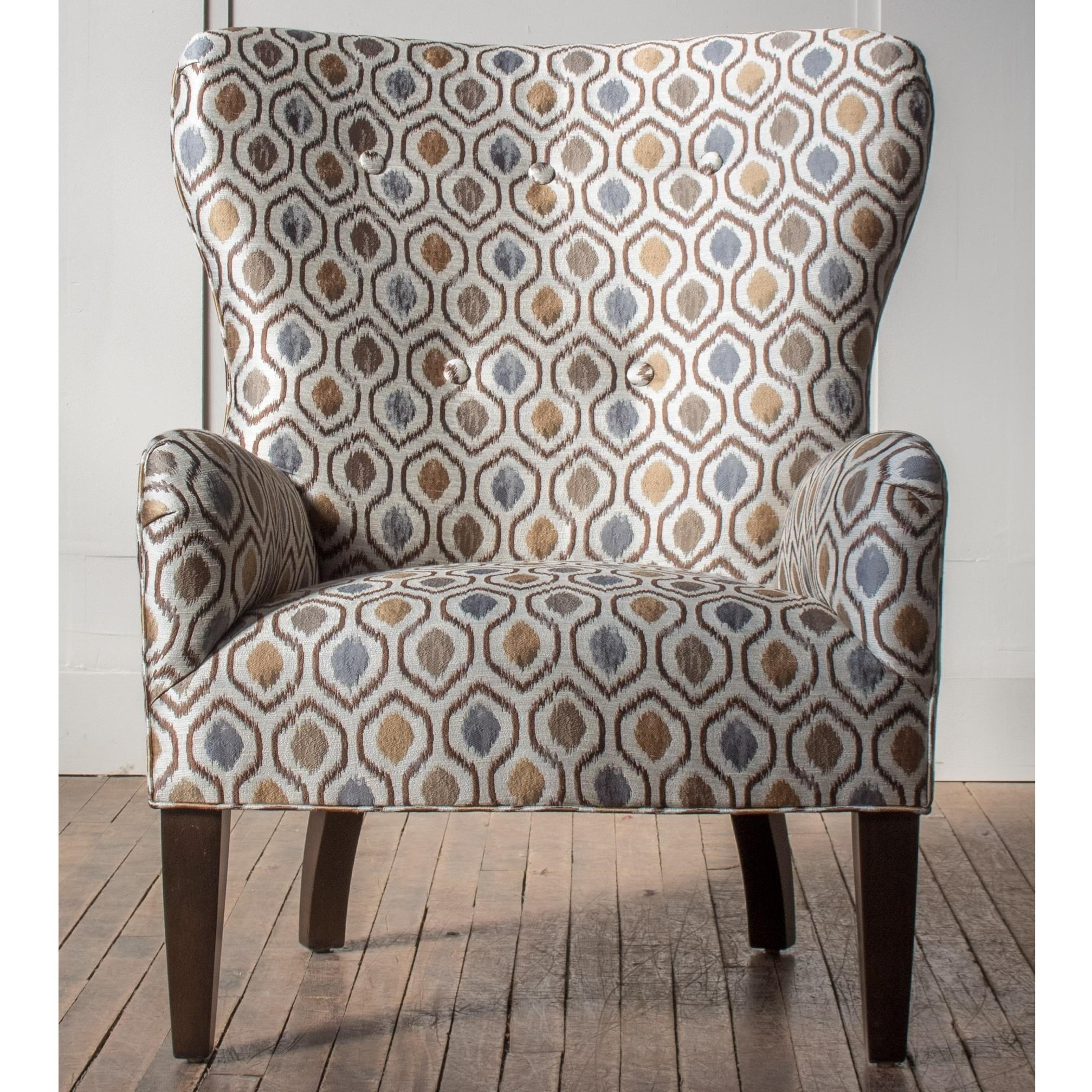 Accent Chairs Customizable Curved Back Accent Chair at Bennett's Furniture and Mattresses