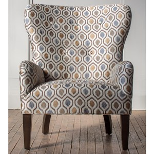 Customizable Curved Back Accent Chair