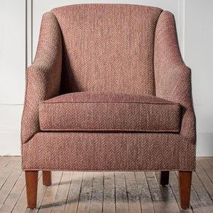 Customizable Sloped Arm Accent Chair