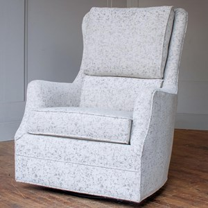 Customizable Swivel Glider Accent Chair