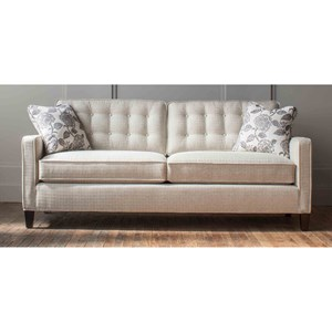 Customizable Button Back Sofa with Track Arms