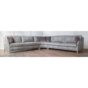 Customizable Curved Sectional with Sloped Track Arms